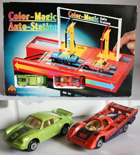RARE VINTAGE 80'S COLOR MAGIC AUTO STATION PORSCHE 911 TURBO 956 MC TOY NEW MIB!