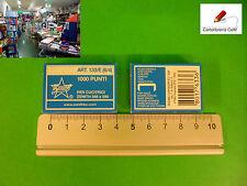 Stock di 30 pacchi di 1000 Punte ZENITH misure 6/4 per Spillatrice Cucitrice TOP