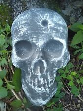 """skull with bullet hole plastic mold plaster cement mould 8"""" x 5.5"""" x 2"""""""