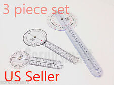 3 PIECE GONIOMETER Set #2 - 12 inch + 8 inch + 6 inch  - Great Price!!  #429