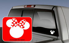 Minnie Mouse Ears Symbol Car Vinyl Window Decal Sticker laptop wall