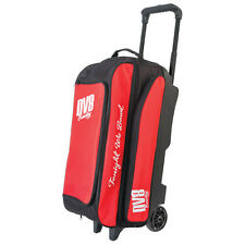 DV8 Freestyle Triple Roller 3 Ball Bowling Bag Red