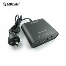 ORICO DCH-4U 4 Port AC USB Wall Charger iPad iPhone Android Tablet AU Plug 6A31W