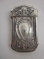 Antique Match Safe Vesta Sterling Silver Art Nouveau Design