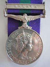"""British General Service Medal """"MALAYA"""" clasp - Rfn. Abhi Ale 7 G.R."""