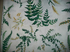 """Waverly vintage Botany Country Weekend Collection green/white fabric 50"""" X 68"""""""