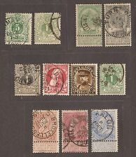1893 - 1897 BELGIUM STAMPS USED  SEE SCAN FOR BACK AND FRONT
