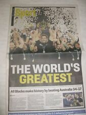 2015 ALL BLACKS WINNERS RUGBY WORLD CUP UK  sports newspaper