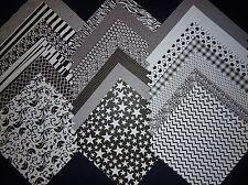 12x12 Scrapbook Paper Studio Black & White 2 Basics Classics MonoChrome 40 Lot