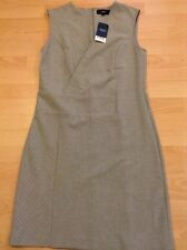 Bnwt��Next��Size 10 Tall Grey & White Striped V-Neck Smart Dress Office Work New