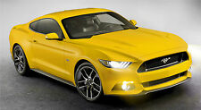 """2015 MUSTANG GT YELLOW  43"""" x 24"""" LARGE WALL POSTER PRINT NEW.."""