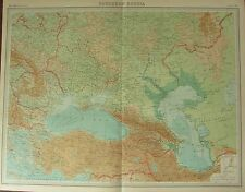 Carte antique large 1922 ~ ~ Russie méridionale Constantinople Bulgarie Ukraine