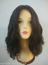 Silk Top Wavy Dark Brown 100% Remy Human Hair Wig Kosher Wig Jewish Wig Sheitel
