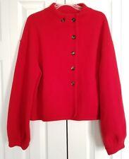 PIAZZA SEMPIONE  Red Wool Cardigan Sweater Jacket Italia. Size 48/ US XXL