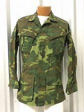 VIETNAM US MILITARY 1ST ERDL LEAF WOODLAND CAMO SLANT POCKET COAT SHIRT MAC VGC