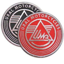 URAL MOTORCYCLES EMBROIDERED PATCH RUSSIAN BIKE SIDECAR IRON-ON EMBLEM SET OF 2