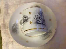 Antique Barr Flight and Barr Worcester Porcelain Seashell & seaweed cup saucer
