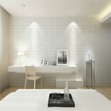 30*60cm White 3D Brick Wall Sticker Panel Decal Wallpaper Textured Vinyl