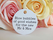 20 x  White Wedding Bubbles Gift Swing Tags! (Tags only) Great For Bomboniere!