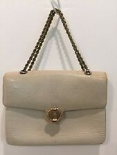 FINESSE LA MODEL Beige Reptile Skin Purse Handbag Vintage Early Piece