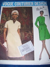 VOGUE COUTURIER DESIGN #2453 - DESIGNER MICHAEL of LONDON PATTERN w/LABEL 16 FF