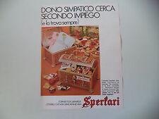 advertising Pubblicità 1971 CARAMELLE SPERLARI