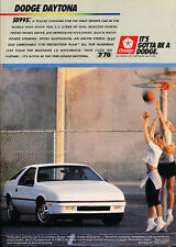 1988 DODGE DAYTONA / 2.5 LITER  ~  GREAT ORIGINAL PRINT AD