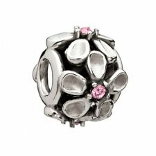 Chamilia Sterling Silver Charm Silver Dazzling Daisy Pink CZ 2025-0754 RRP £45