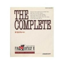 THE COMPLETE Final Fantasy 6 VI perfect official guide book / SNES