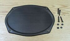 1955 1956 1957 CHEVY REAR SEAT SPEAKER METAL GRILLE Black Finish with HARDWARE
