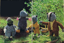KNITTING Pattern-Toy- Toad, Mole, Rat & badger toys to knit in DK-Ideal for XMAS