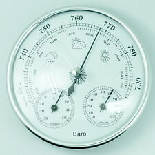 130mm Wall Hanging Barometer Weather Thermometer Hygrometer Home 960~1060hPa