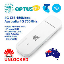 FACTORY UNLOCKED HUAWEI 4G LTE USB MODEM DONGLE  OPTUS 4G+ TELSTRA 4GX - PREMIUM