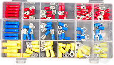 100pc automotive clips wiring wire connectors terminals ring spade but splice
