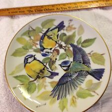 7.5 Inch 1985 Songbirds of Europe GERMAN Plate Blue Titmouse Ursula Band Birds