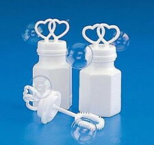96 DOUBLE HEART BOTTLES BUBBLE BUBBLES WEDDING PARTY FAVORS FAST FREE SHIPPING
