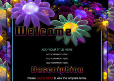 LUMINOUS FLORAL ebay auction template COLORFUL black BEAUTIFUL display flowers