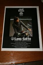 AE7=1972=LANA GATTO=PUBBLICITA'=ADVERTISING=WERBUNG=