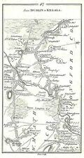 Antique map, Road from Mullingar to Killala (1)