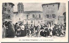 CPA - Les scenes Villageoises - Un marché en Gévaudan