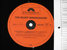 THE VELVET UNDERGROUND - LP 1982 Polydor Archiv-Copy mint