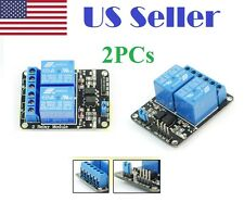 2PCs 5V 2-Channel 10A Relay Module Shield for Arduino ARM PIC AVR DSP Electronic