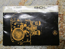SWISS INSTRUCTION MANUAL for BOLEX H16 REFLEX 16MM MOVIE CAMERA