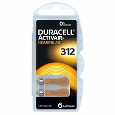 Duracell Activair Mercury Free Hearing Aid Batteries x60 Size 312