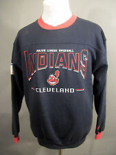 MLB Cleavland Indians Size M Medium Vintage Lee Sport Embroidered Sweatshirt