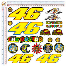 STICKERS VALENTINO ROSSI THE DOCTOR  AUTO MOTO CASCO KIT 20 ADESIVI DECAL HELMET