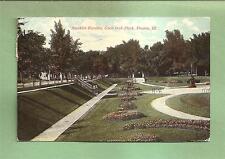 PEORIA, IL Vintage 1912 Postcard--SUNKEN GARDEN, GLEN OAK PARK