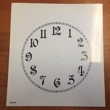 "Spare cream paper clock dial  5 1/2""  Any Brand  .Arabic numerals Gloss"