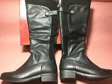 G By Guess Women's Nina Boots Full Zip Faux Leather/Suede In Black Size 8