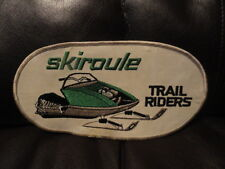 Skiroule Snowmobile Trail Riders Large Oval Patch - New - Vintage - Original